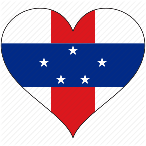 Country, Flag, Heart, Netherlands Antilles, South America Icon
