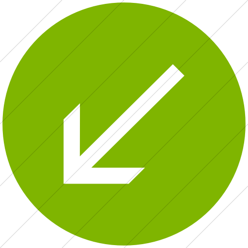 Flat Circle White On Green Classic Arrows Simple