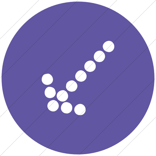 Flat Circle White On Purple Classic Arrows Dotted Sw Icon