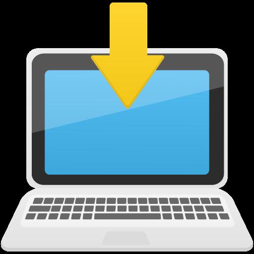 Download To Laptop Icon Flatastic Iconset Custom Icon Design