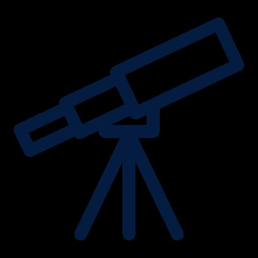 Telescope, Femenine, Astronomy, Space, People, Stars Icon