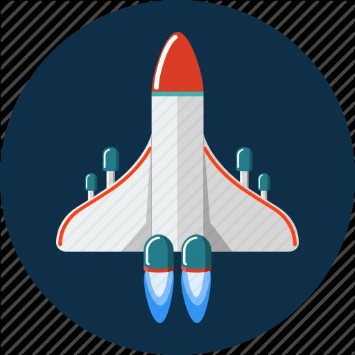 Racket, Rocket, Space, Spaceship Icon