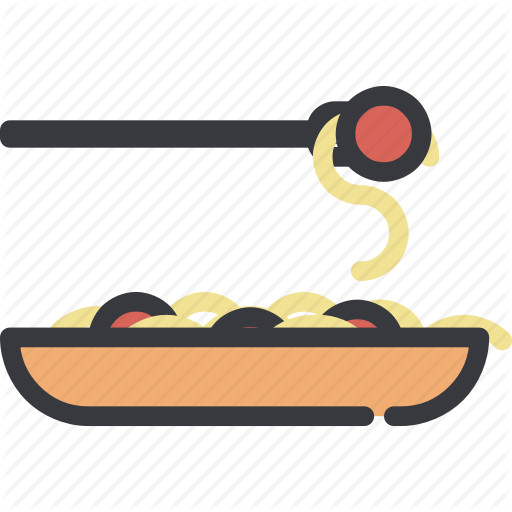 Cooking, Food, Kitchen, Meal, Noodles, Pasta, Spaghetti Icon