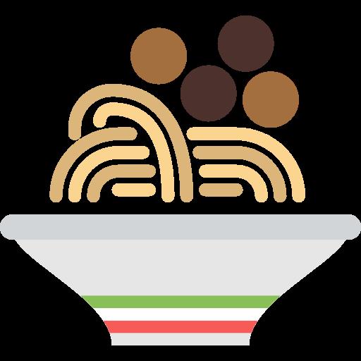Food, Healthy Food, Italian Food, Pasta, Meatballs, Spaghetti Icon