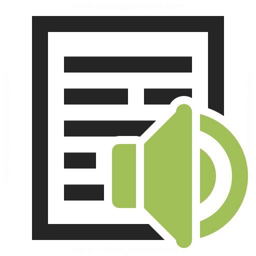 Text Speaker Icon Iconexperience