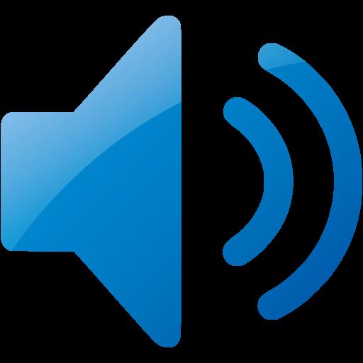 Web Blue Speaker Icon