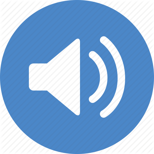 Blue, Circle, Music, Sound, Sounds, Speaker, Volume Icon