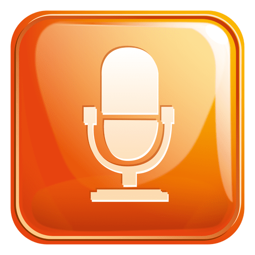 Mouth Speaker Square Icon