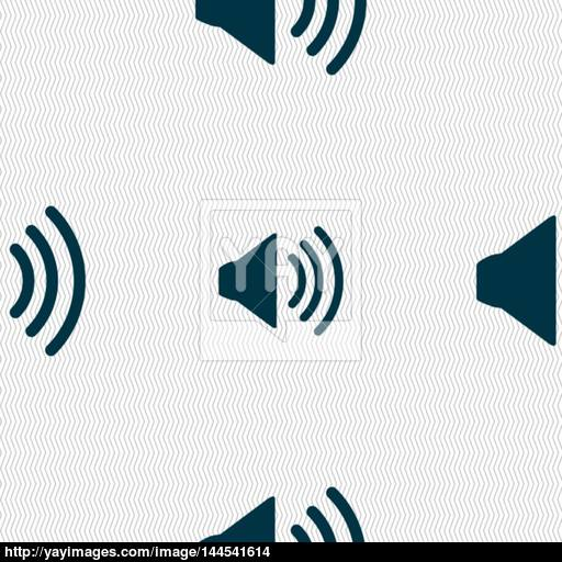 Speaker Volume Sign Icon Sound Symbol Seamless Abstract