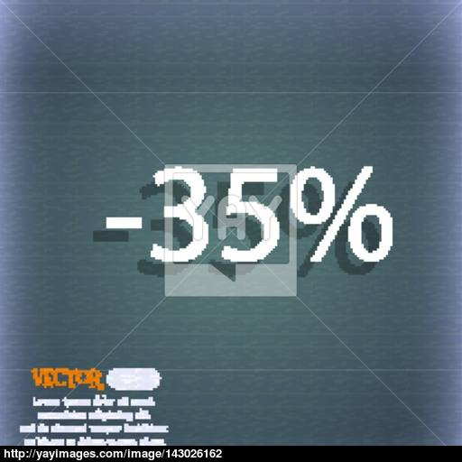 Percent Discount Sign Icon Sale Symbol Special Offer Label
