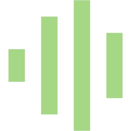 Guacamole Green Audio Spectrum Icon
