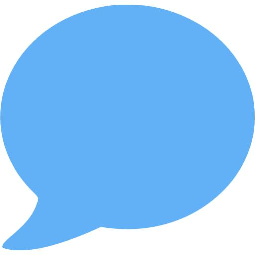 Tropical Blue Speech Bubble Icon