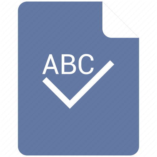Access, Check, Complete, Edit, Spelling, Text Icon