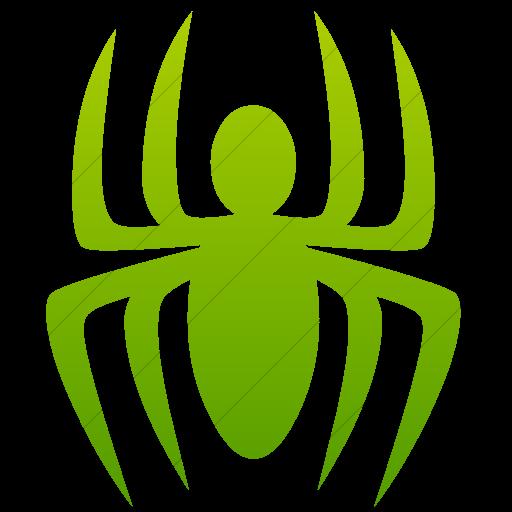 Simple Green Gradient Animals Spider Icon
