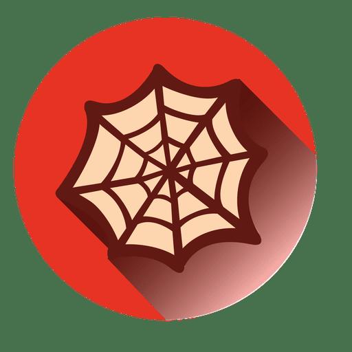 Spider Web Round Icon