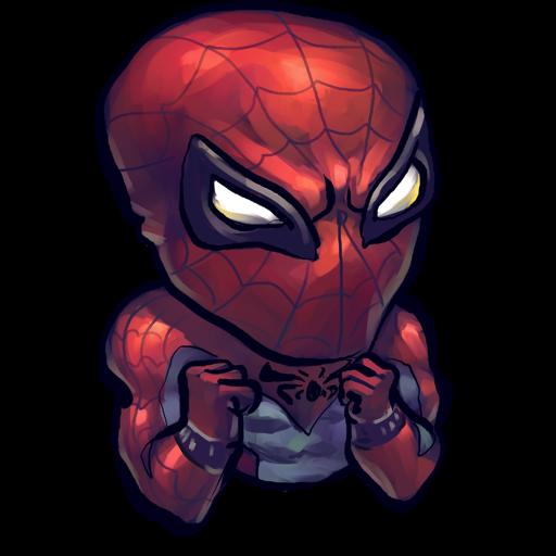 Comics Spiderman Baby Icon Ultrabuuf Iconset Mattahan