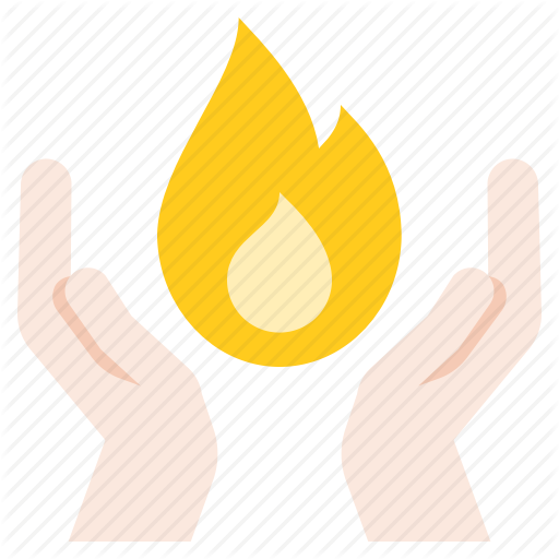 Christ, Fire, Hand, Holy Spirit Icon