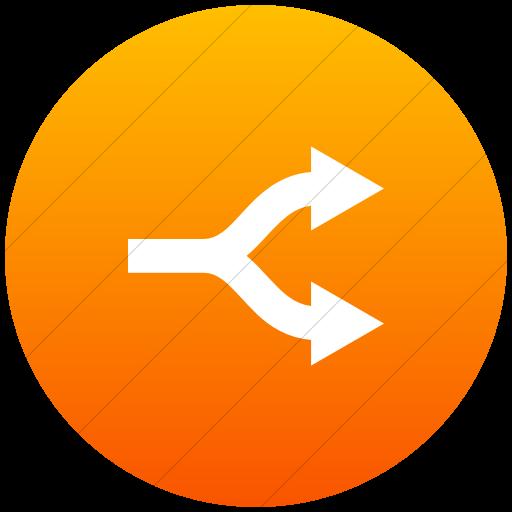 Flat Circle White On Orange Gradient Raphael Arrow