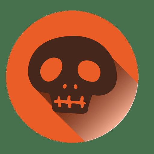 Spooky Skull Round Icon