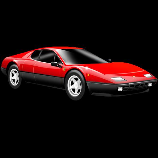 Sports Car, Car, Small Car, Red, Ferrari Icon