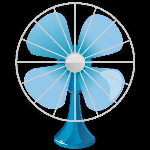Fan Icon Summer Blue Iconset Dapino