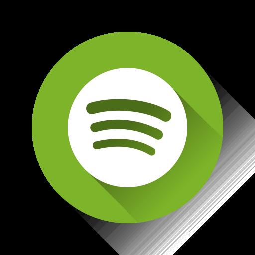 Spotify Flat Yellowgreen Icon