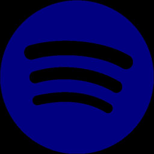 Navy Blue Spotify Icon