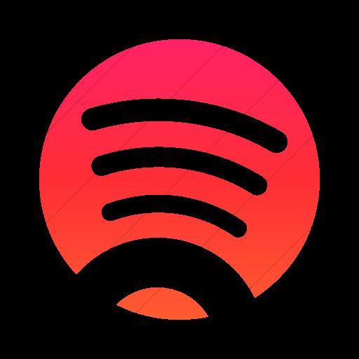 Simple Ios Orange Gradient Foundation Social Spotify Icon