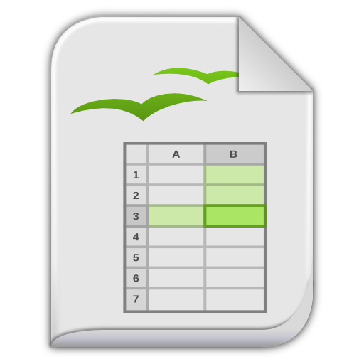App Vnd Oasis Opendocument Spreadsheet Icon Leaf Mimes Iconset