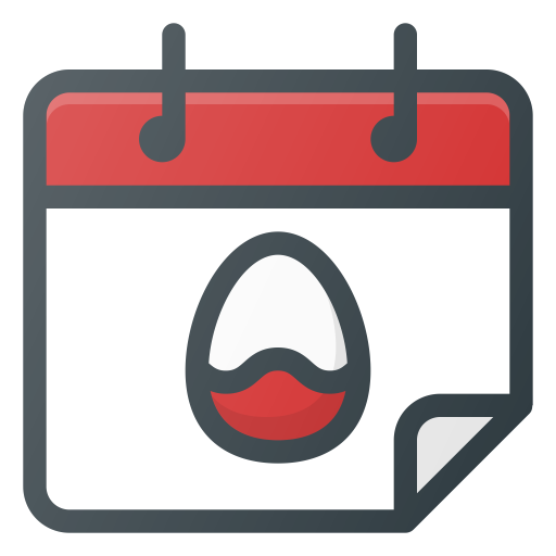 Calendar, Celebration, Easter, Holiday Icon