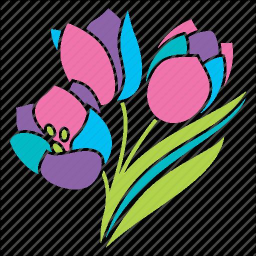 Bouquet, Flowers, Nature, Pastel, Season, Spring, Tulips Icon
