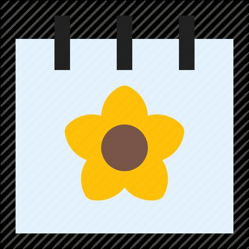 Calendar, Flower, Season, Spring Icon