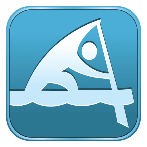 Canoe Sprint Square Icon