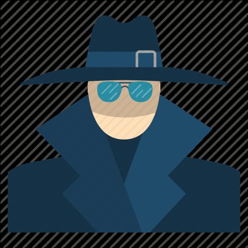 Agent, Anonymous, Avatar, Cryptoicons, Detective, Man, Spy Icon