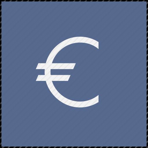 Blue, Cash, Euro, Money, Square Icon