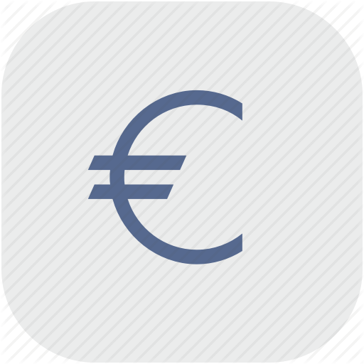 Cash, Euro, Gray, Money, Rounded, Square Icon