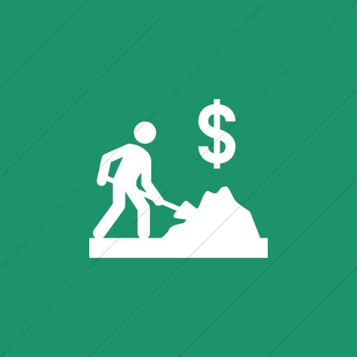 Flat Square White On Aqua Iconathon Cash For Work Icon
