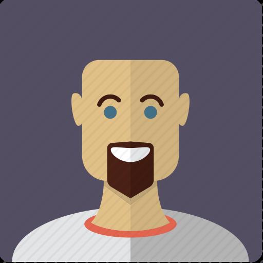 Avatar, Bald, Beard, Face, Male, Man Icon
