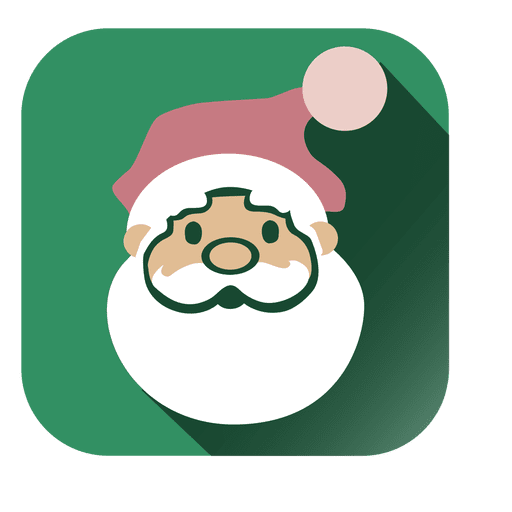 Santa Face Square Icon