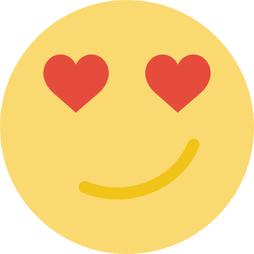 In Love, Smiling, Smile, Emoticon, Square, Face, Rounded