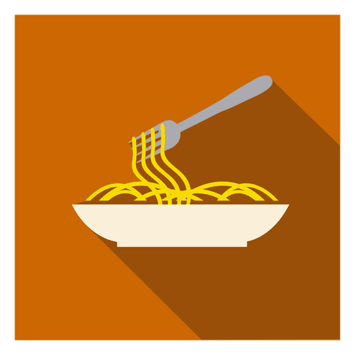 Noodles Plate Square Icon