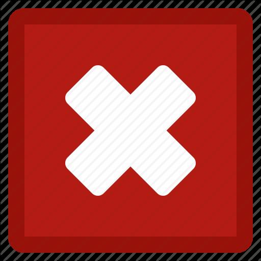 Cancel, Close, Delete, Dismiss, Exit, Red, Remove, Square Icon