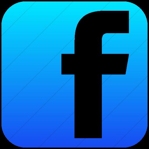 Simple Ios Blue Gradient Social Media Facebook Square Icon