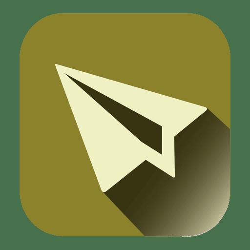 Paper Plane Square Icon