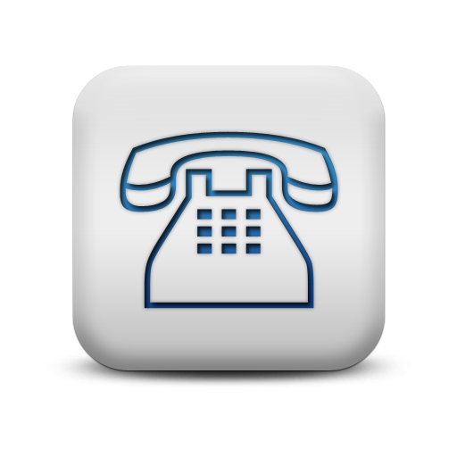 Matte Blue And White Square Icon Business Phone Clear