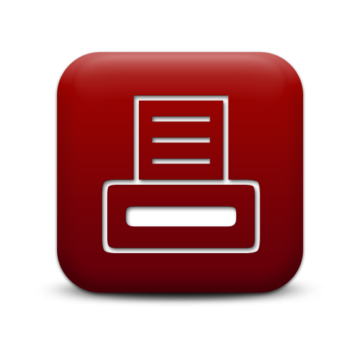 Simple Red Square Icon Business Printer