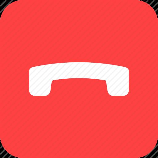 Call, Circle, End, Finish, Phone, Square, Talk Icon
