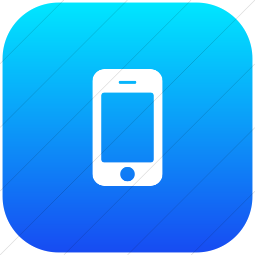 Flat Rounded Square White On Ios Blue Gradient