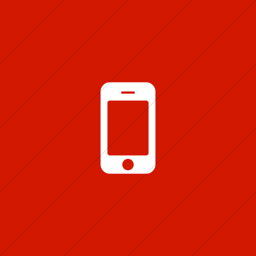 Flat Square White On Red Bootstrap Font Awesome Mobile