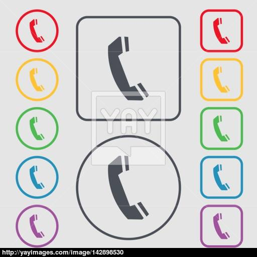 Phone Sign Icon Support Symbol Call Center Symbols On The Round